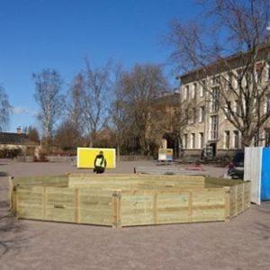 fylstaskola i Kumla med sin nya gagarink fr gagaball rastlekhellip